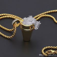 new mens hip hop jewelry cuban link chains necklace styrofoam cup pendant gold chains necklace for men hip hop jewelry mens jewelry gold chain with