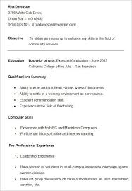 Cv Template College Student Resume Examples Sample Resume