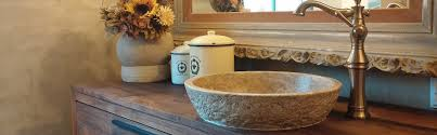 travertine vessel sink. Simple Travertine TashMart Stone Sinks  Chiseled Round Noce Sink Inside Travertine Vessel