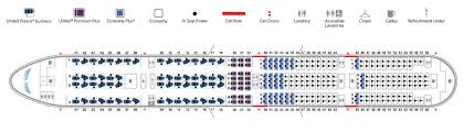 United Plane Seating Chart Boeing 777 300er 77w