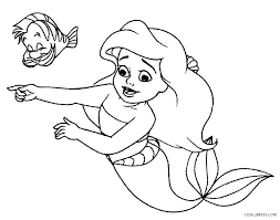 Coloring Page Online Mermaid Coloring Pages The Little Mermaid