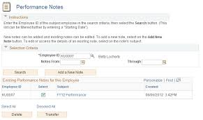 employee notes template entering performance notes