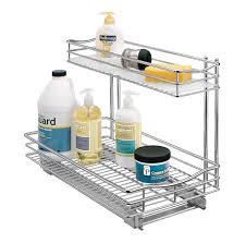 Kitchen Sink Shelf Organizer Under Sink Storage Under Sink Shelves And Organizers Inside Under