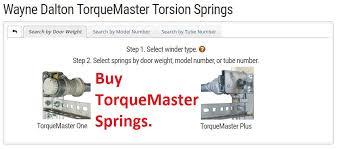 wayne dalton torquemaster garage door torsion springs