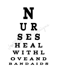 Dr Office Eye Chart Nurse Eye Chart Printable Nurses Heal With Love And