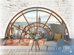 Fototapete Halbkreisförmiges Fenster New York Webwandtattoocom