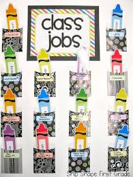 First Grade Job Chart Ship Shape First Grade My Classroom Classroom Jobs Board