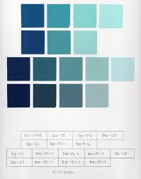 Blue In Green Chart Monochromatic Color Planes Gias Color Study