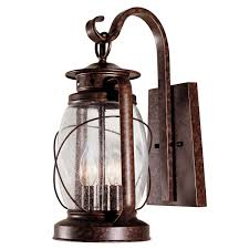 Rustic Lantern Light Palisade Outdoor Wall Lantern 17 Inch