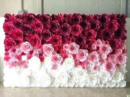 Tissue Paper Flower Wall Art Tissue Paper Wall Tissue Paper Wall Treatment Tissue Paper Roll Wall