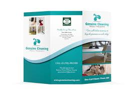 Cleaning Brochure Genuine Cleaning Brochure On Behance