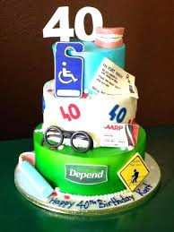 Husband 40th Birthday Cake Ideas For Funny Card M2dynamics