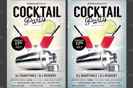 Cocktail Party Flyer Template ~ Flyer Templates ~ Creative Market