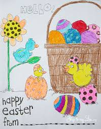 Easter Basket Coloring Page Skip To My Lou