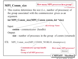 mpi comm size message passing environments systems ppt download