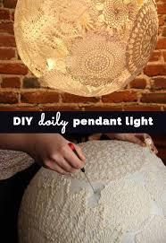 homemade lighting ideas.  Homemade DIY Doily Pendant Lighting  Cool Bedroom Decor Ideas And Creative Homemade  Inside