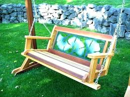 wooden baby swing plans porch with stand outdoor swings and gliders set garden a large p patio outdoor glider swing