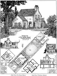 3292 best design ideas images on pinterest vintage houses, house 4 Bedroom House Plans For Narrow Lots elegant small homes of the twenties 99 designs from a competition by chicago tribune Small Narrow Lot House Plans