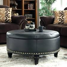 brown leather coffee table ottoman round brown leather ottoman ottoman ottoman large round leather coffee table