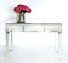 glass desk with drawers this beautiful mirrored desk can be used as a hall table just glass desk with drawers