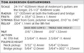 how the stars set up their guitars stewmac com tom anderson guitarworks