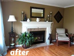 What Color To Paint A Living Room Living Room Make Over Tan White Blue Room Paint Colors