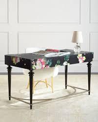 Image Glass Fleur De Glee Writing Desk Horchow Designer Home Office Desks At Horchow