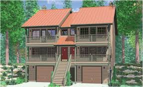 image of popular 3 story house plans with garage underneath