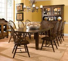 Large Farmhouse Kitchen Table Oak Dining Room Sets With Hutch Bettrpiccom