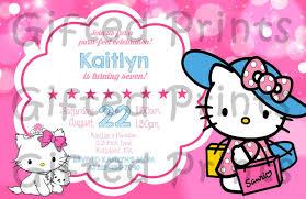 Hello Kitty Invitation Hello Kitty Birthday Invitation With Charmmy Kitty