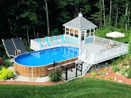 custom above ground pools custom above ground pools ground pool deck with changing room very nice custom above ground pools