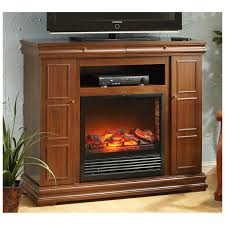 castlecreek side storage remote media center electric fireplace with heater wall cove base inch mount stone