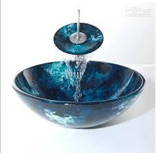 glass bathroom sink bowls bathroom tempered glass vessel vanity print color sink bowl with faucet home glass bathroom sink bowls