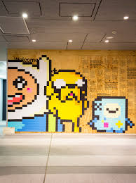 art not apart adventure time post it note mural 2018 kerrie neilen photography by