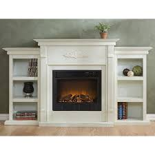 holly martin fredricksburg electric fireplace with bookcases in