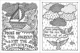 Small Picture Posh Adult Coloring Book Inspirational Quotes for Fun Relaxation