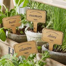 custom plant markers herb garden 20032