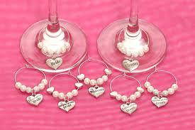 Personalized Wedding Wine Glass Charms
