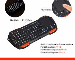 samsung tv keyboard and mouse. mini bluetooth wireless backlight keyboard touchpad mouse for samsung iphone ipad smart tv box macbook pc tv and g