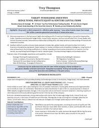 Sample Private Equity Resume Free Example And Writing For Hedge Fund ...