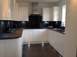 New Design Kitchens Cannock Our New Kitchen Handless White Gloss Grey Slate Bench And