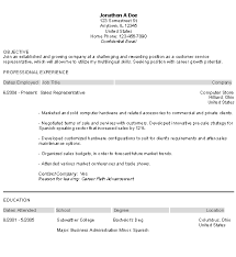 Good Resume Objectives For Customer Service With Professional