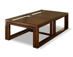 glass nesting coffee tables glass top coffee table 2 small nesting tables in wood support