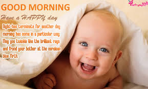 cute baby good morning wishes with