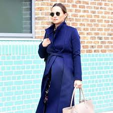 Blue Coat Flipboard Pippa Middleton Wears A Blue Coat By The Fold While