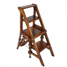 library chair antique metamorphic chair victorian library steps design