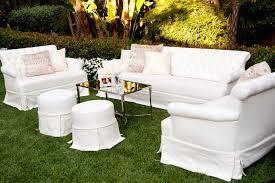 outdoor wedding furniture. White Lounge Area On Grass At Wedding Outdoor Furniture