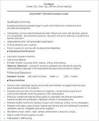 Assistant Teacher Resume Sample Assistant Teacher Resume Assistant
