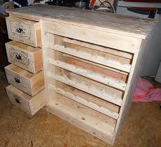 Wood Pallets Made Table with Bottles Sto.