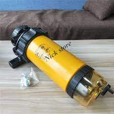 Orijinal yakıt filtre tertibatı ile elektronik pompa 320/07426 MB CX5110  dizel motor yakıt su ayırıcı kedi JCB|Fuel Filters